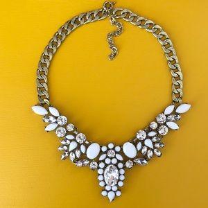 White Statement Necklace